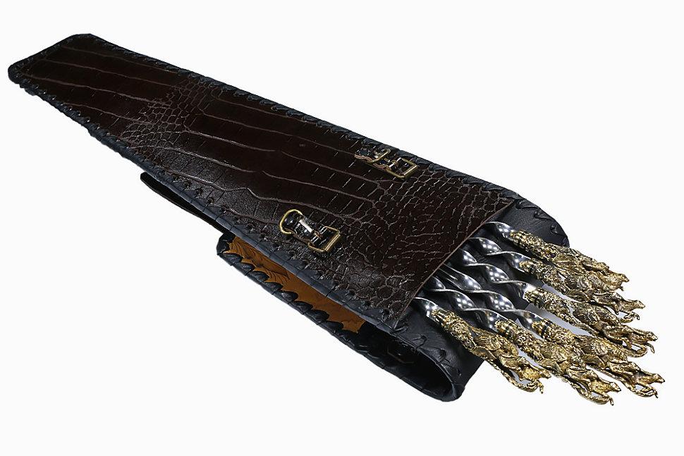 Ножи рукоять из кожи 190